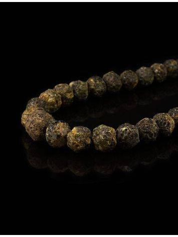 Raw Amber Ball Beaded Necklace The Meteor, image , picture 2