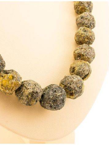 Hammer Cut Amber Necklace The Meteor, image , picture 6