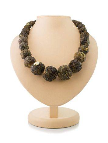 Amber Oversized Ball Beaded Necklace The Meteor, image