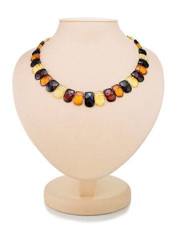 Multicolor Faceted Amber Necklace The Cleopatra, image