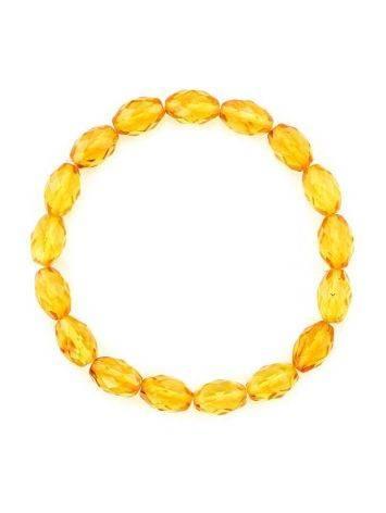 Faceted Lemon Amber Beaded Bracelet, image , picture 3