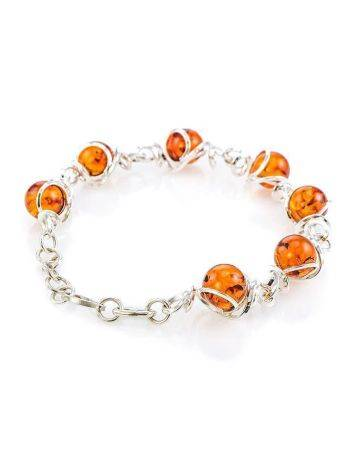 Baltic Amber Link Bracelet In Sterling Silver The Flamenco, image , picture 4