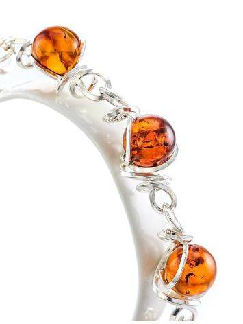 Baltic Amber Link Bracelet In Sterling Silver The Flamenco, image , picture 2