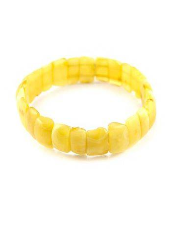 Genuine Honey Amber Stretch Bracelet, image , picture 2