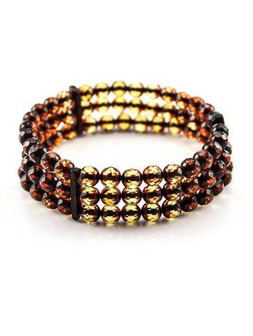 Faceted Amber Beaded Bracelet The Prague, image , picture 3