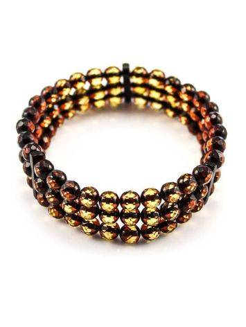 Faceted Amber Beaded Bracelet The Prague, image , picture 2