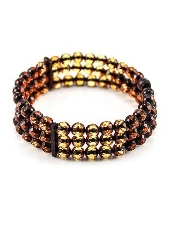 Faceted Amber Beaded Bracelet The Prague, image , picture 4