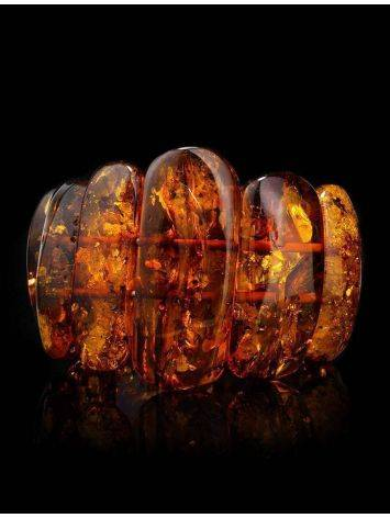 Cognac Amber Stretch Bracelet The Volcano, image , picture 2