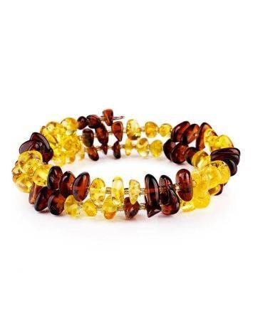 Two-Toned Amber Bangle Bracelet, image