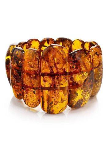Cognac Amber Stretch Bracelet The Volcano, image