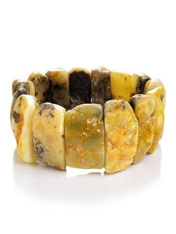 Unpolished Amber Stretch Bracelet The Volcano, image