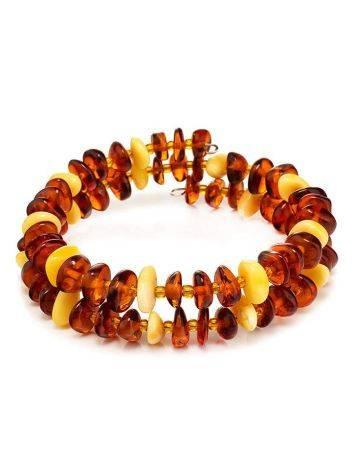 Multicolor Amber Spiral Bracelet, image