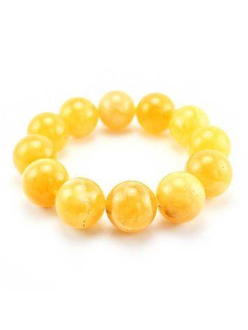 Butterscotch Amber Ball Beaded Bracelet, image