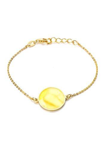 Laconic Gold Plated Bracelet With Natural Amber The Monaco, image