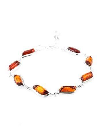 Cognac Amber Silver Link Bracelet The Tilda, image