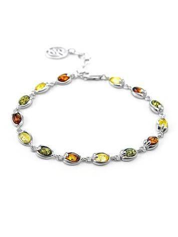 Silver Amber Link Bracelet The Astrid, image