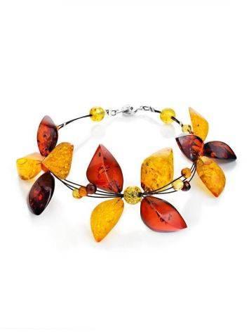 Multicolor Amber Floral Bracelet The Primula, image
