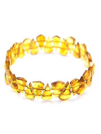 Bright Amber Flat Beaded Bracelet, image