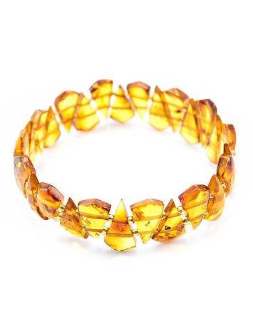 Luminous Amber Flat Beaded Bracelet, image