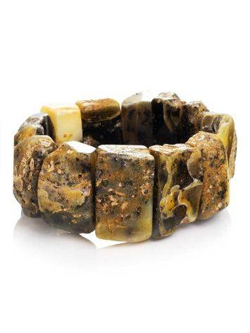 Bold Raw Amber Stretch Bracelet The Volcano, image