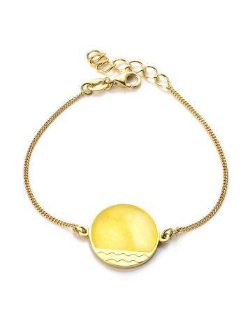 Gold-Plated Bracelet With Honey Amber The Monaco, image
