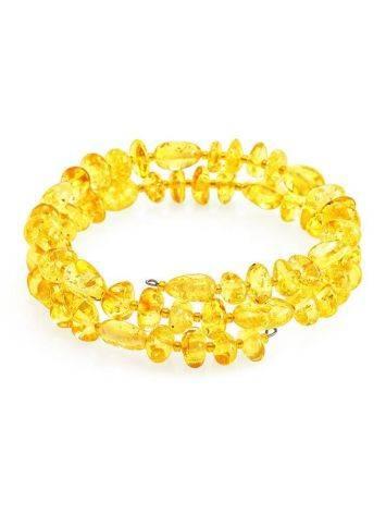 Bright Lemon Amber Bangle Bracelet, image
