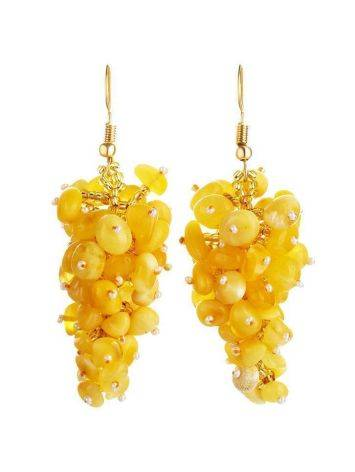 Honey Amber Drop Earrings The Fable, image