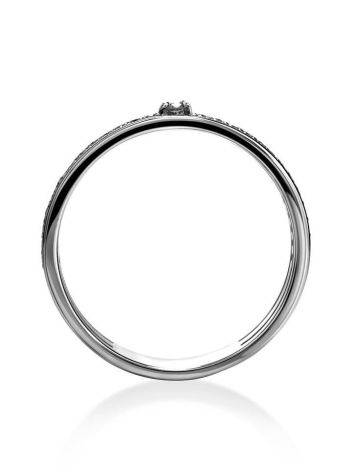 White Gold Ring With Diamond Pavé, Ring Size: 6 / 16.5, image , picture 3