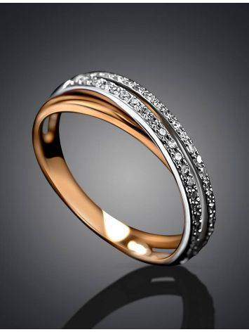 Classy Diamond Ring In White And Yellow Gold, Ring Size: 7 / 17.5, image , picture 2