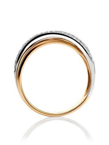 Classy Diamond Ring In White And Yellow Gold, Ring Size: 7 / 17.5, image , picture 3