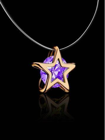 Star Shaped Pendant Invisible Necklace The Aurora, image , picture 2