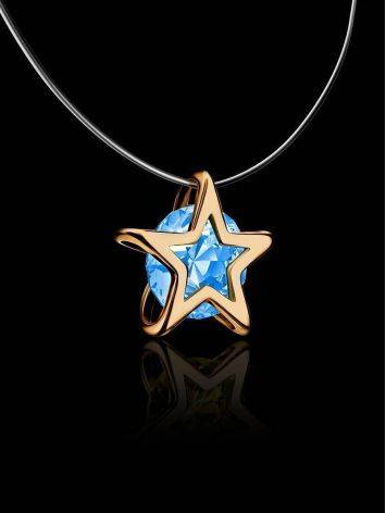 Invisible Necklace With star Shaped Pendant The Aurora, image , picture 2