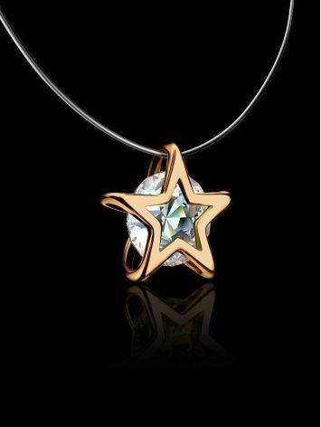 Invisible Necklace With Star Shaped Golden Pendant The Aurora, image , picture 2