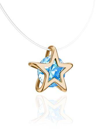 Invisible Necklace With star Shaped Pendant The Aurora, image , picture 3