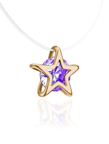 Star Shaped Pendant Invisible Necklace The Aurora, image , picture 3