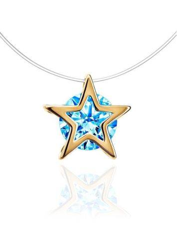 Invisible Necklace With star Shaped Pendant The Aurora, image