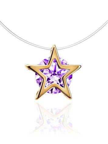 Star Shaped Pendant Invisible Necklace The Aurora, image