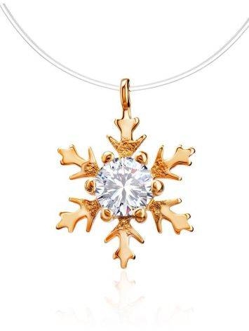 Invisible Necklace With Crystal Snowflake Pendant The Aurora, image