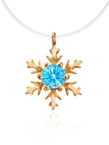 Invisible Necklace With Blue Crystal Pendant The Aurora, image