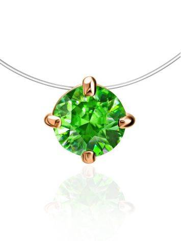 Invisible Necklace with Green Crystal The Aurora, image