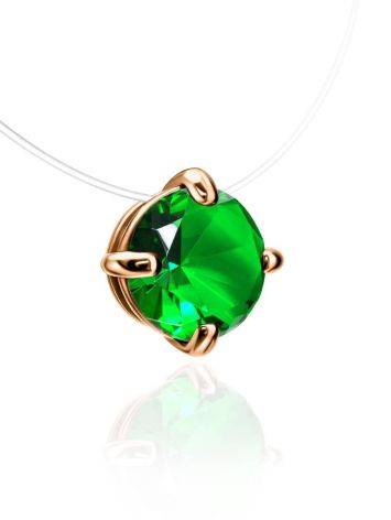 Invisible Necklace with Green Crystal The Aurora, image , picture 3