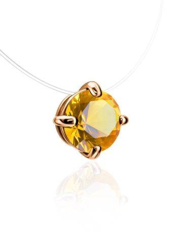 Invisible Necklace With Crystal Pendant The Aurora, image , picture 3