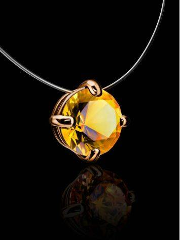 Invisible Necklace With Crystal Pendant The Aurora, image , picture 2