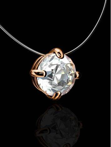 White Crystal Invisible Necklace The Aurora, image , picture 2