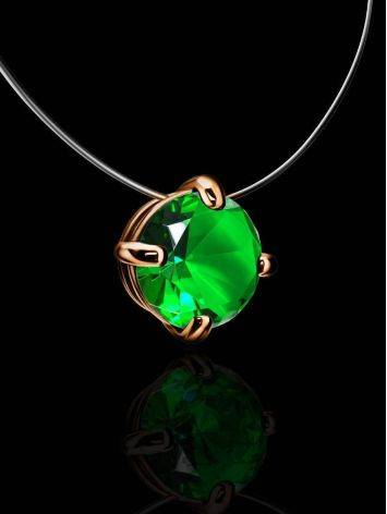 Invisible Necklace with Green Crystal The Aurora, image , picture 2
