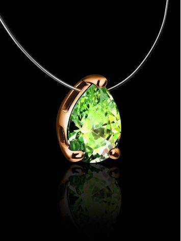 Invisible Necklace With Drop Crystal Pendant The Aurora, image , picture 2