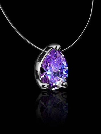 Teardrop Crystal Invisible Necklace The Aurora, image , picture 2