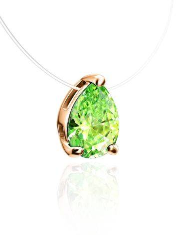 Invisible Necklace With Drop Crystal Pendant The Aurora, image , picture 3