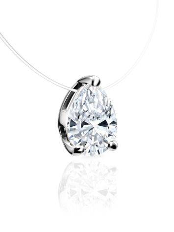 Invisible Necklace With White Crystal Pendant The Aurora, image , picture 3