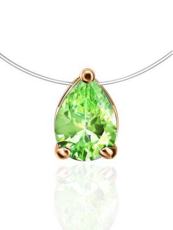 Invisible Necklace With Drop Crystal Pendant The Aurora, image